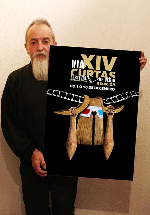 O Festival Internacional de Curtas de Verín xa ten cartel ilustrador
