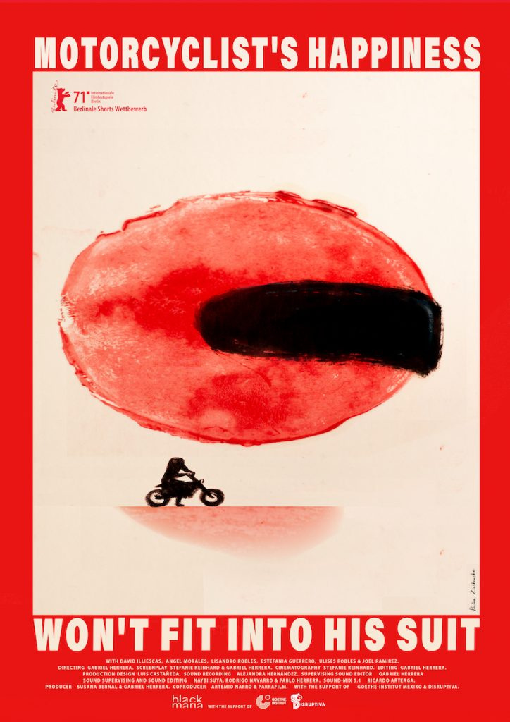 AL MOTOCICLISTA NO LE CABE LA FELICIDAD EN EL TRAJE 1 (poster)